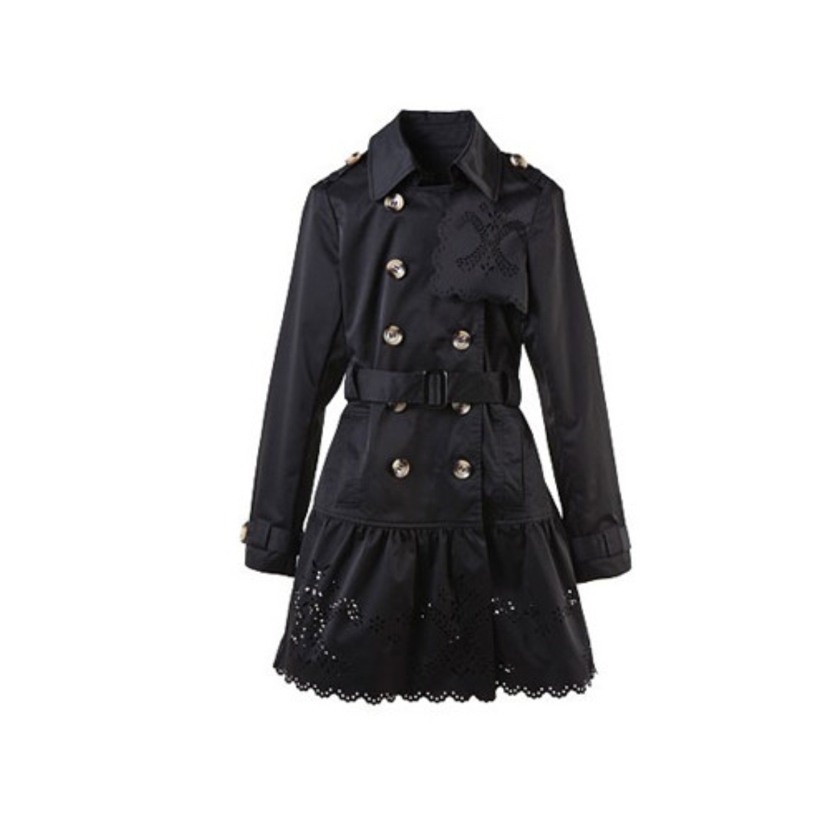 Lapel Double-Breasted Winter Coat,Cheap in Wendybox.com