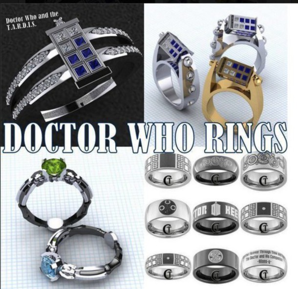 jewels dr who series ring