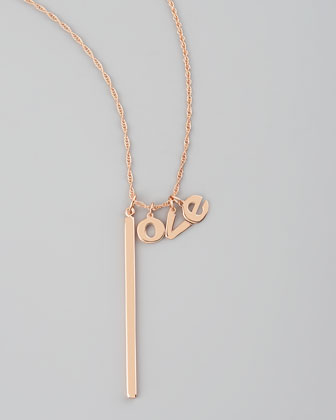 Jennifer Zeuner Love Lariat Necklace - Bergdorf Goodman
