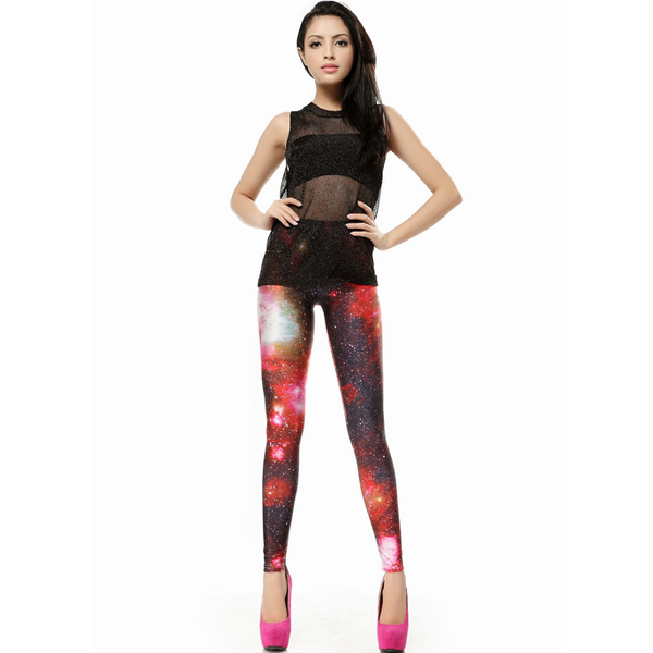 """color intrigue galaxy"" leggings, the latest street fashion"