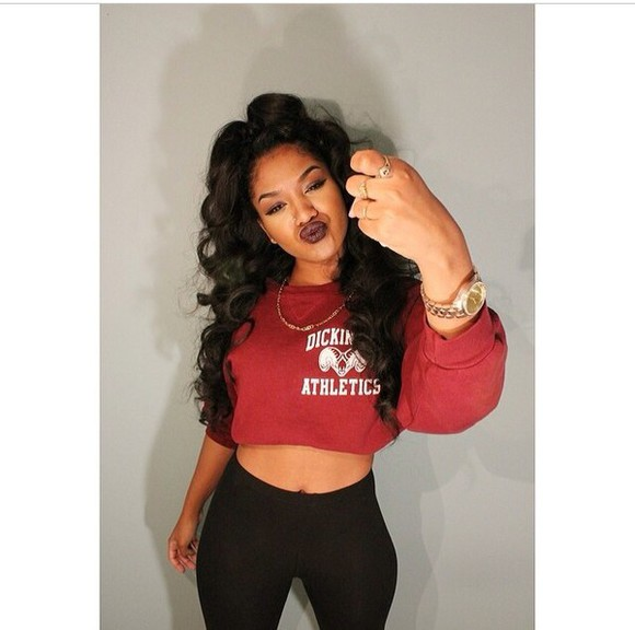 long sleeves loose fit sweater white crop tops black red crop sweater crop sweatshirt athletic athletic gear tights burgundy ling sleeve white crop top dickinson athletics black curly plum