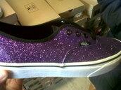 shoes,glitter,purple,sneakers,vans