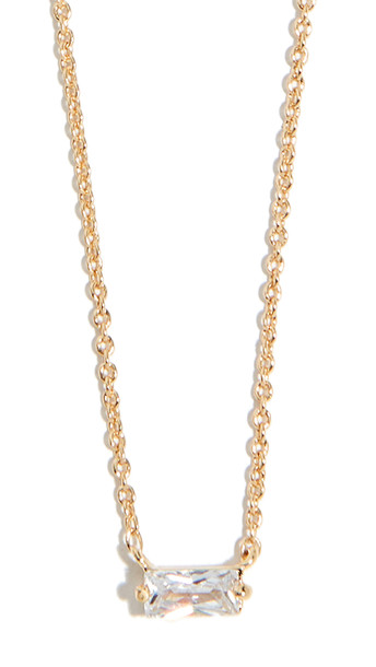 Gorjana Amara Solitaire Necklace in gold / yellow / clear