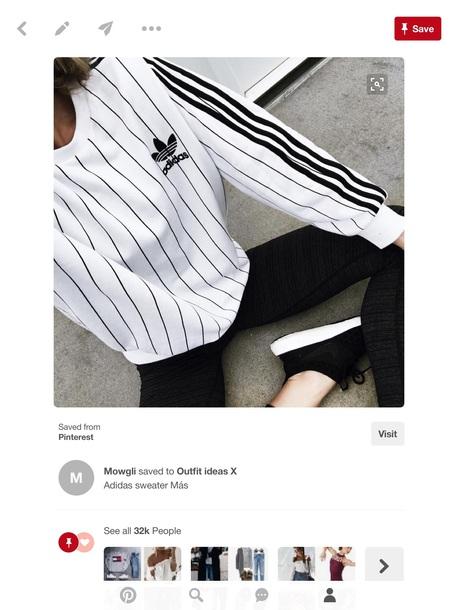 sweater adidas sweater stripes