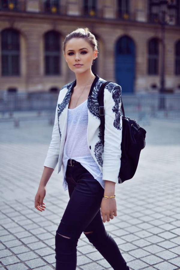 jacket style blazer weheartit outfit jeans