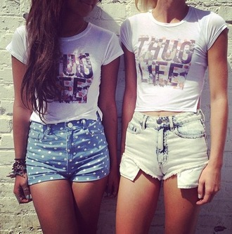 t-shirt shirt thug life floral white white shirt shorts matching shirts