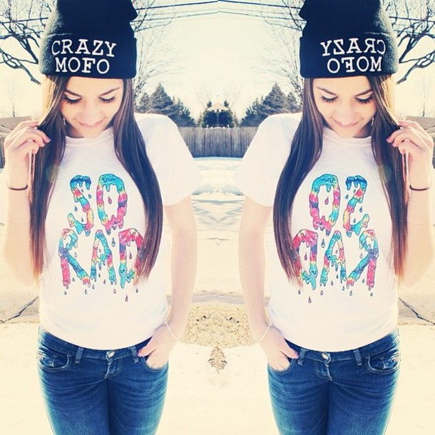 hat t-shirt cute love it swag rad cool omg shirt melinadimmambro