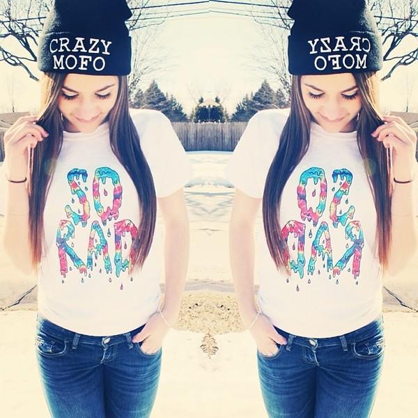 hat t-shirt cute love it swag rad cool omg