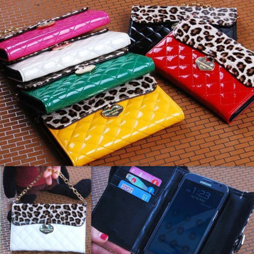 Hot Sale Luxury Leopard Chain Wallet Purse Pouch Card Bag PU Leather Case Cover | eBay