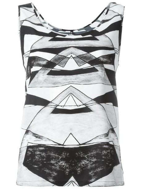 Minimarket - 'Holli' tank top - women - Polyester - 38, Grey, Polyester