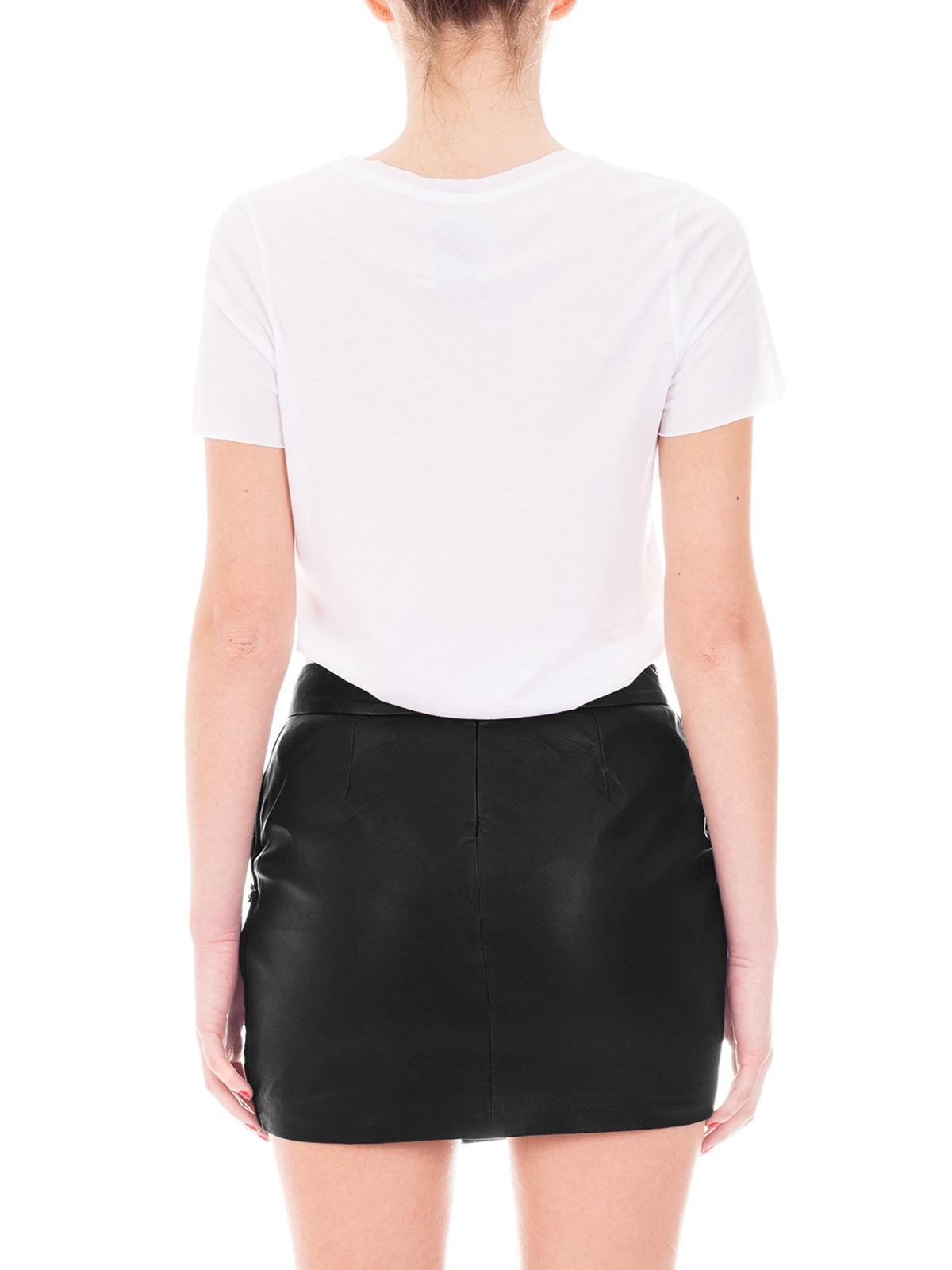 Maison Scotch | Black Leather Mini Envelope Skirt | GIRISSIMA.COM