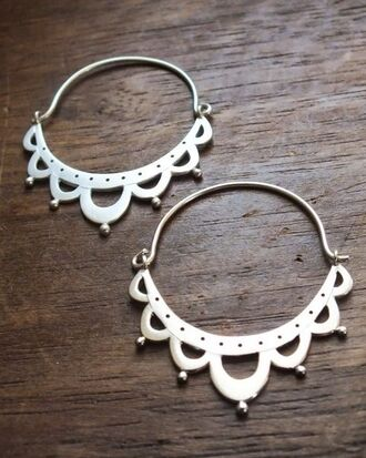 jewels sterling silver silver earrings silver earrings hoop earrings