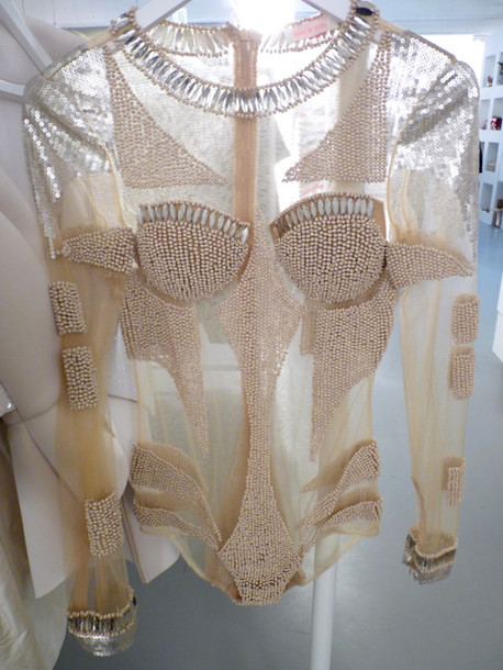 blouse gold glitter