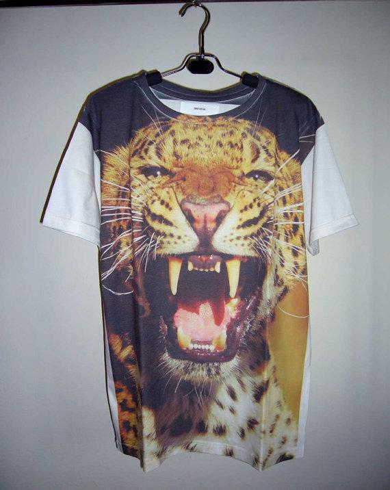 Leopard Shirt Animal T Shirt Tiger Shirt Cheetah Shirt