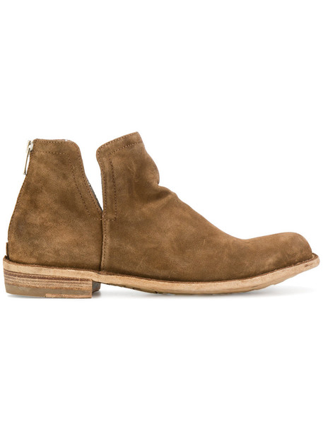 OFFICINE CREATIVE women leather suede brown shoes