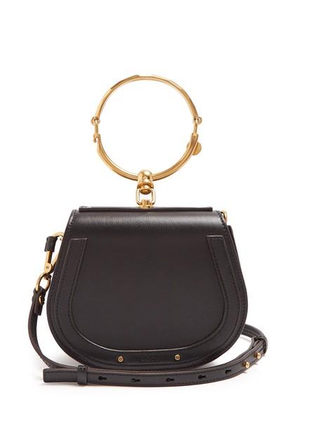 Chloe cross bag leather suede black