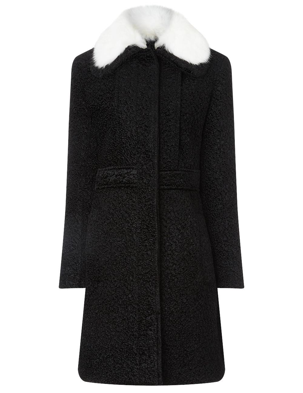 Black Fur Collar Princess Coat
