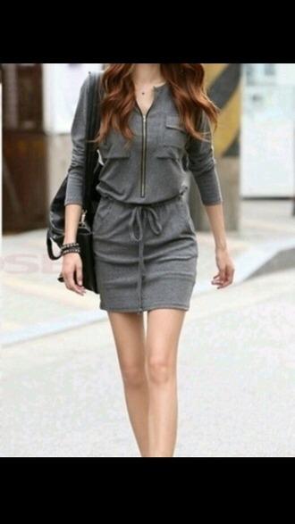 dress grey grey dress comfy comfy dress fashion fashion inspo style summer summer dress stylish fashionista