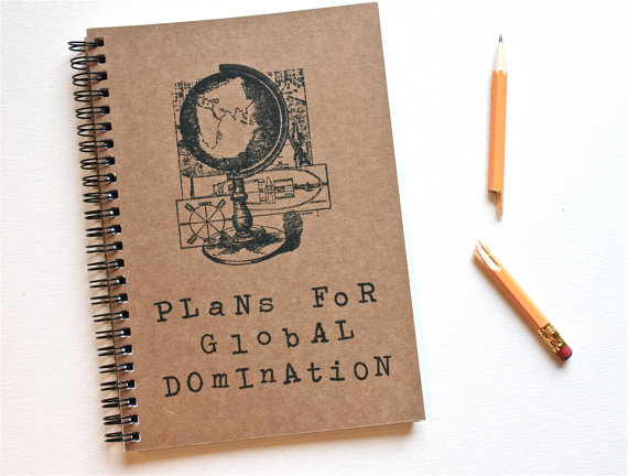 Funny notebook journal plans for global by theblackspruce on etsy