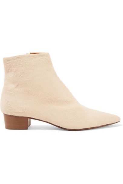 The Row - Ambra Calf Hair Ankle Boots - Off-white
