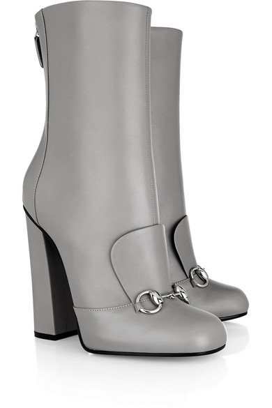 Detailed leather ankle boots