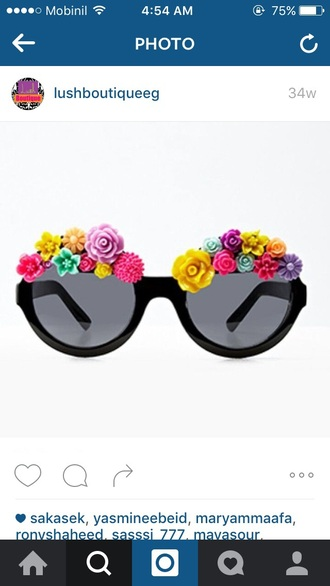 sunglasses shades floral flowers summer color/pattern