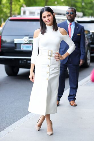 skirt midi skirt top jenna dewan pumps spring outfits spring dress