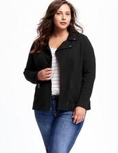 jacket,black jacket,curvy