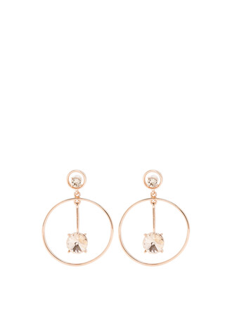 embellished earrings rose gold rose gold jewels