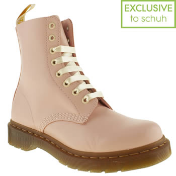 Womens Pale Pink Dr Martens 8 Eye Pastel Boots | schuh