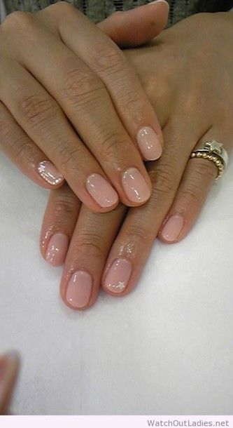 nail polish nude nails stars accents stars accent