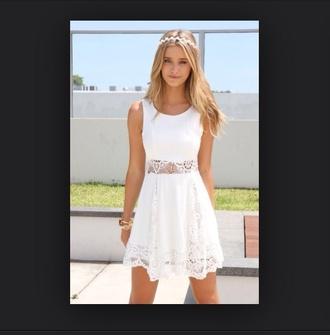 dress summer dress summer outfits white dress white cute dress cute headband flowers fashion clothes tumblr tumblr girl girly vintage