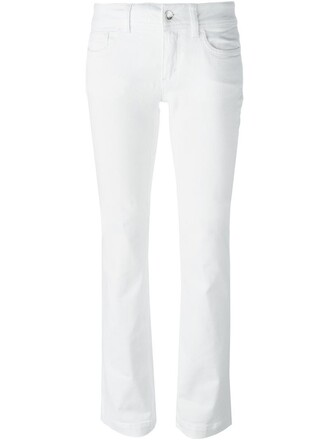 jeans women spandex leather white cotton