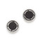 Marc jacobs enamel logo disc stud earrings - black/argento