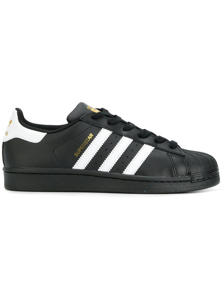 Adidas Originals women sneakers leather black shoes