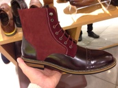 shoes,boots,men's,red,burgundy,westfield,leather,patent,suede
