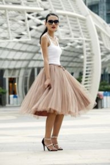 skirt tutu fashion shoes sunglasses