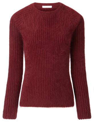 jumper burgundy red sweater