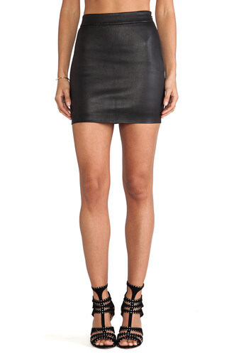 skirt high waisted skirt high waisted high leather black