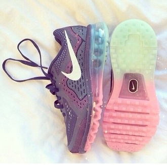 shoes nike running shoes nike sneakers air max nike shoes sneakers pink transparent shoes rainbow