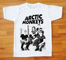 Arctic Monkeys T-Shirt Indie T-Shirt Rock T-Shirt Short Sleeve Tee Shirt Women T-Shirt Men T-Shirt Unisex T-Shirt White Tee Shirt S,M,L,XL