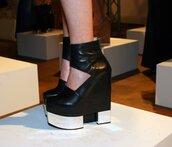 heels,shoes black wedges,block heels,shoes