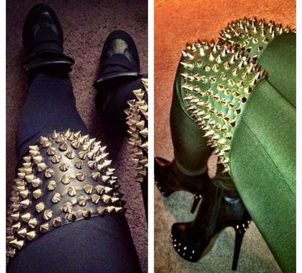 pants studded leggings