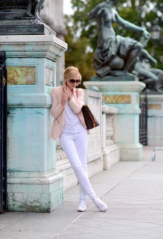 oh my vogue blogger jacket t-shirt jeans bag sunglasses louis vuitton