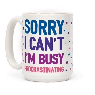 home accessory mug funny procrastination glass cup cute