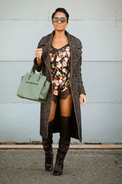 the daileigh,coat,shoes,sunglasses,bag