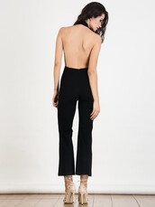 romper,chiclook closet,black,backless,classy,style,fashion,trendy
