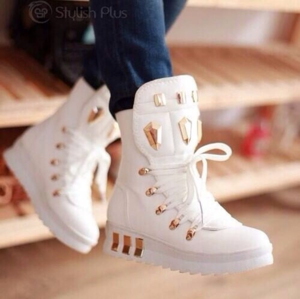 shoes platform shoes platform sneakers high top sneakers gold white