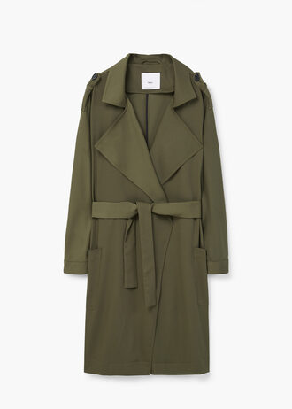 coat mango spring light coat trench coat khaki olive green army green