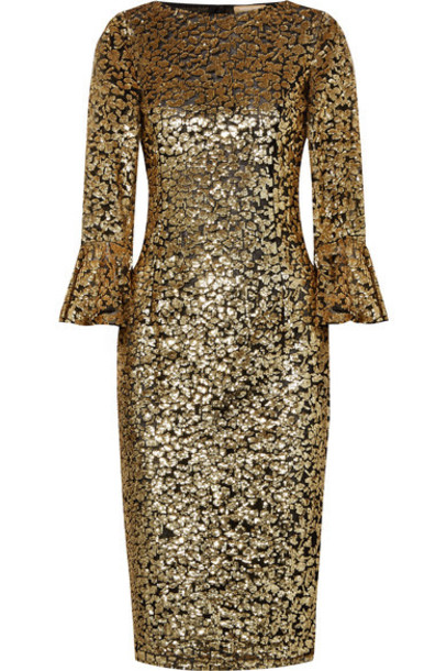 Michael Kors Collection dress midi dress midi gold